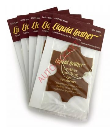 "Gliptone ""Liquid Leather"" Scented Airfresheners x 5 - Long Lasting"